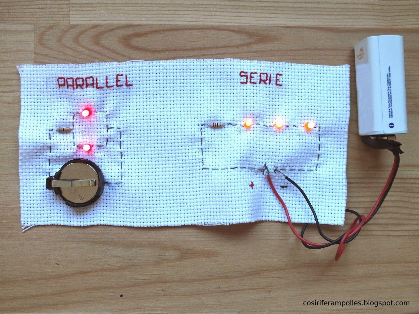 Circuito En Paralelo : Cómo coser varios leds circuitos en serie y en paralelo hay dos