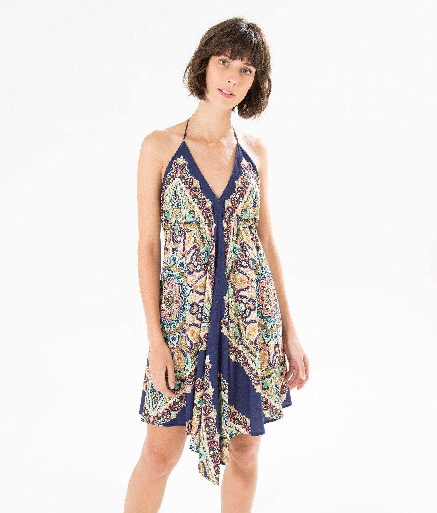 12bcbfc65 vestido lenço nina | vestidos e blusas de tecidos plano | Vestido de ...