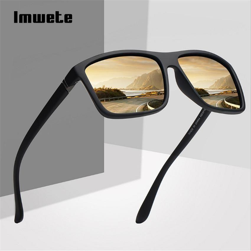 3591d26b5d Imwete Polarized Sunglasses Men Movement Designer Driving Sun glasses Women  Vintage Anti-UV Driver Black Eyewear