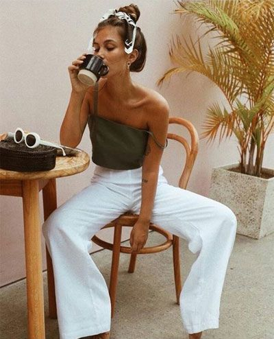 40 Amazing White Wide Leg Pants Outfits to Wear This Summer