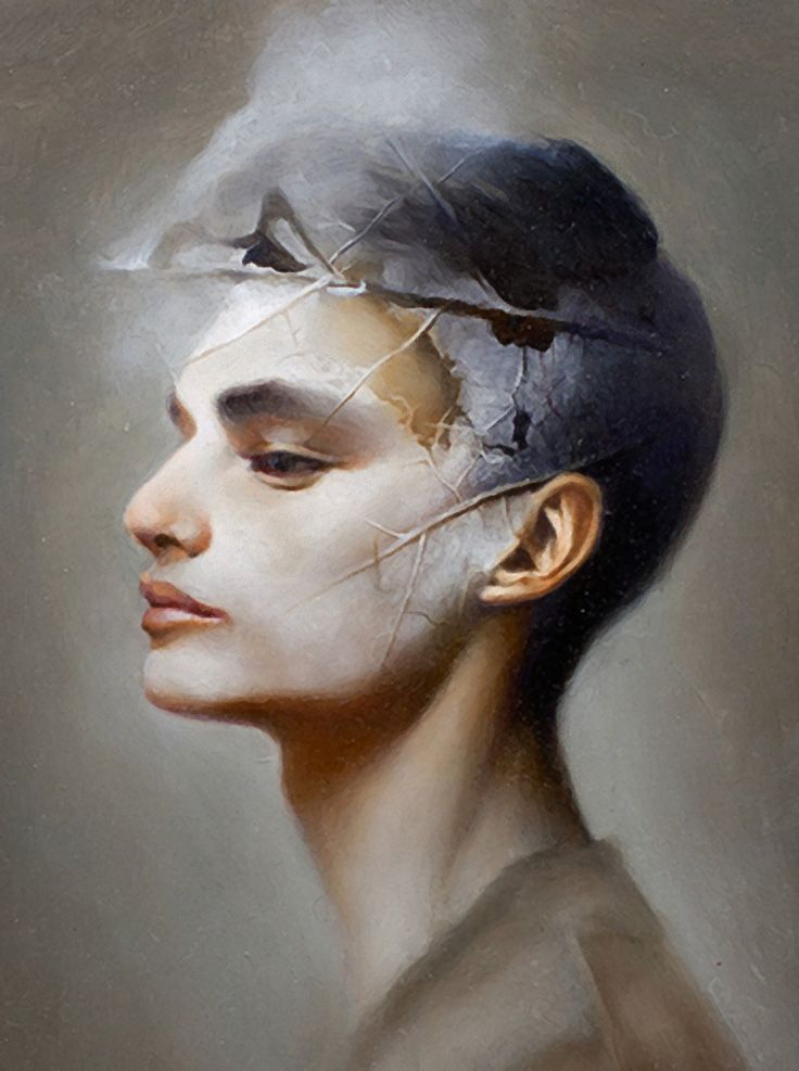 """Wither"" Ling Ly, oil on canvas {contemporary surreal"