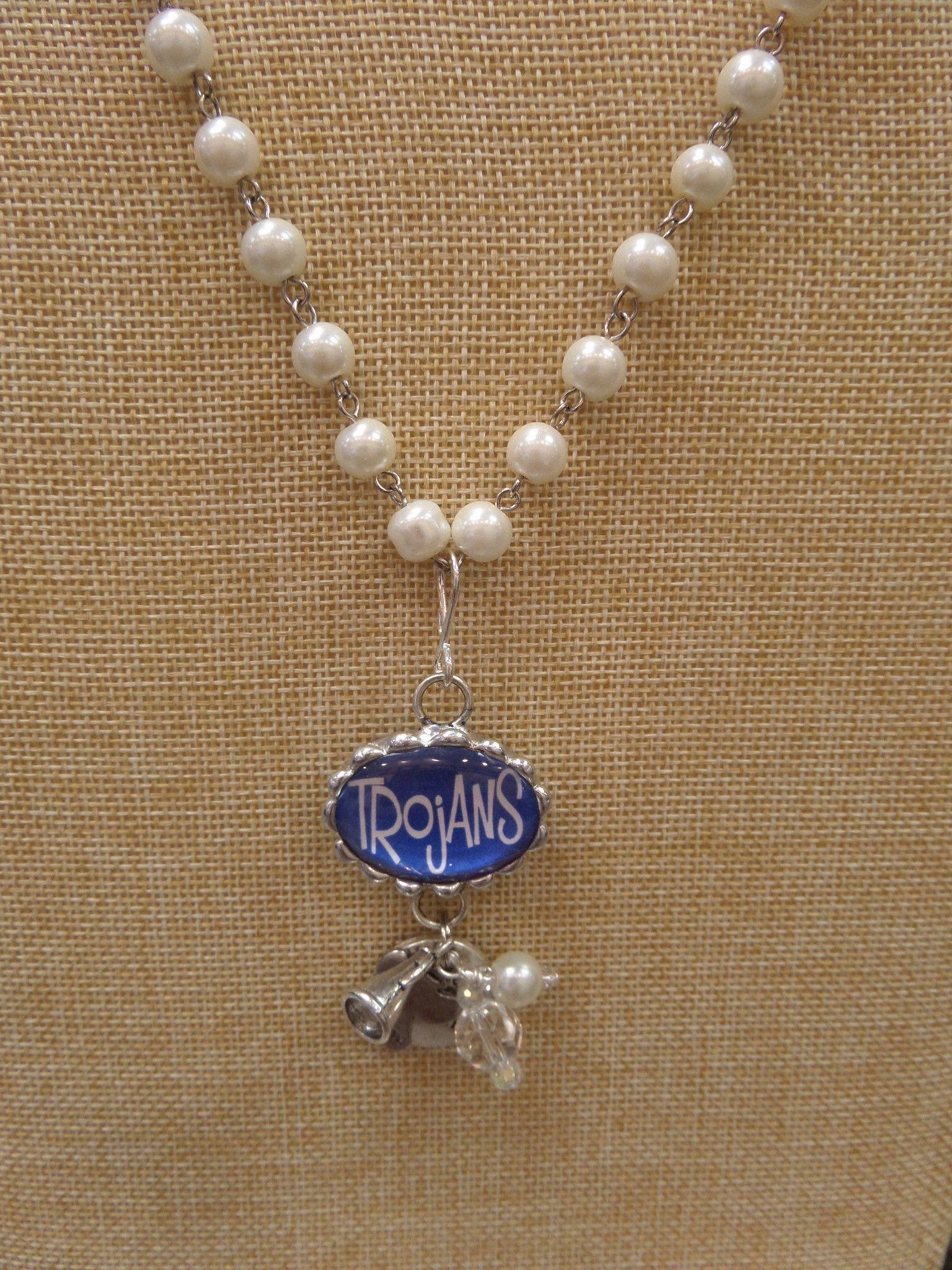 ADO | Hometown Pride Trojans Charm Rosary Necklace