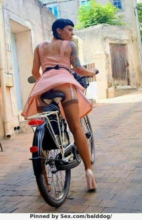 Bike Babes In Stockings