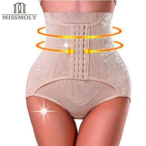 97481cc0f8 Miss Moly Tummy Control Panties Waist Cincher Underwear Invisible Butt  Lifter Slimming Shapewear Woman Modeling Belt