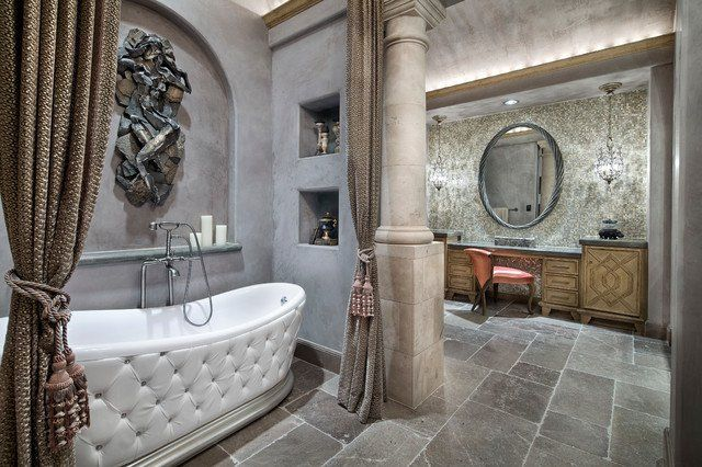A new interior design collection of 17 Astounding Mediterranean Bathroom Designs That Are Sparkling With Elegance. Enjoy!