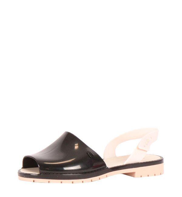 Espardena Sandal in Black and Cream