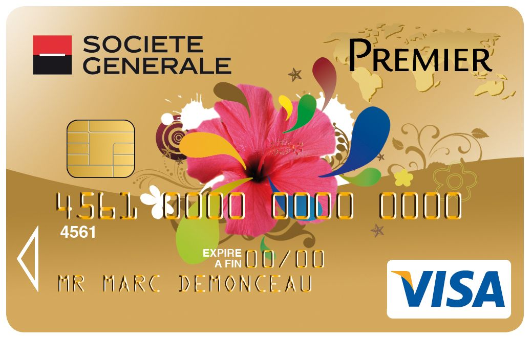 Carte Collection Visa Premier Societegenerale Fleurs Cartes