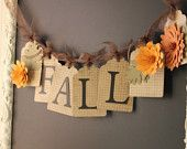 FALL Banner for Autumn and Thanksgiving Decor.