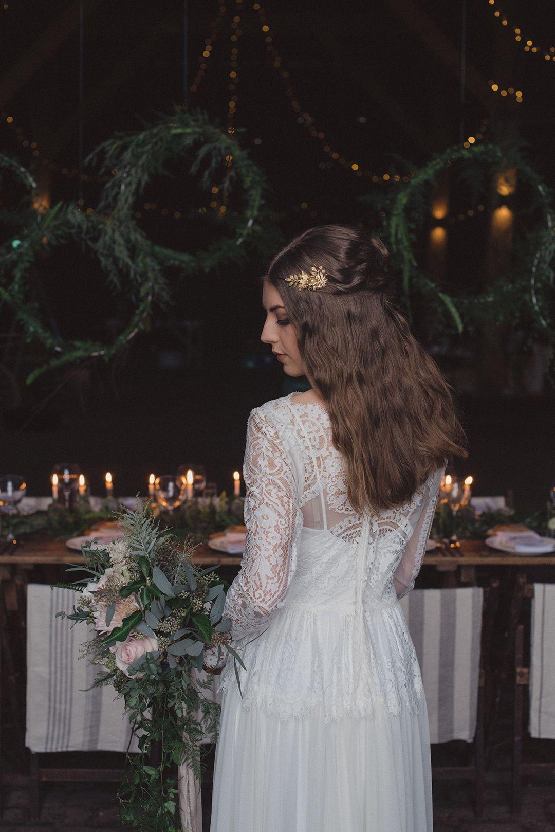Winter Wedding Inspiration Wild Romance in