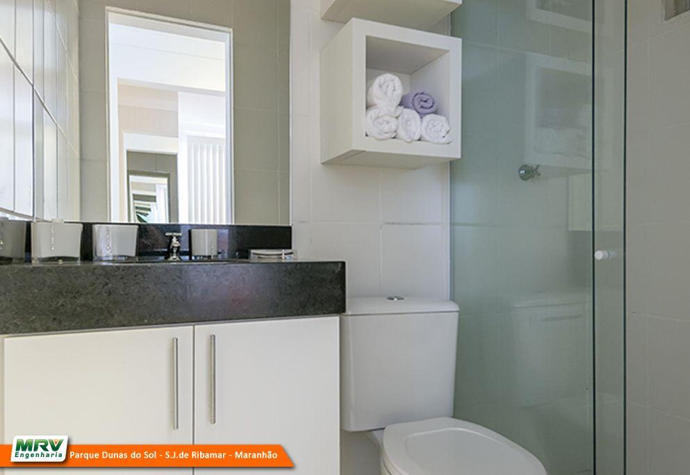 Apartamento decorado 2 quartos do Parque Dunas do Sol na Estrada da Maioba   -> Banheiro Planejado Mrv