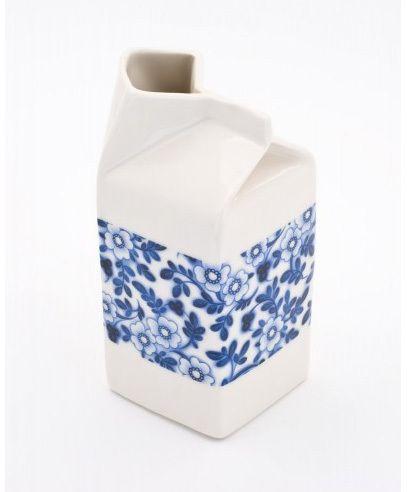 Blue And White Ceramics Milk Jug Milk Carton Porcelain