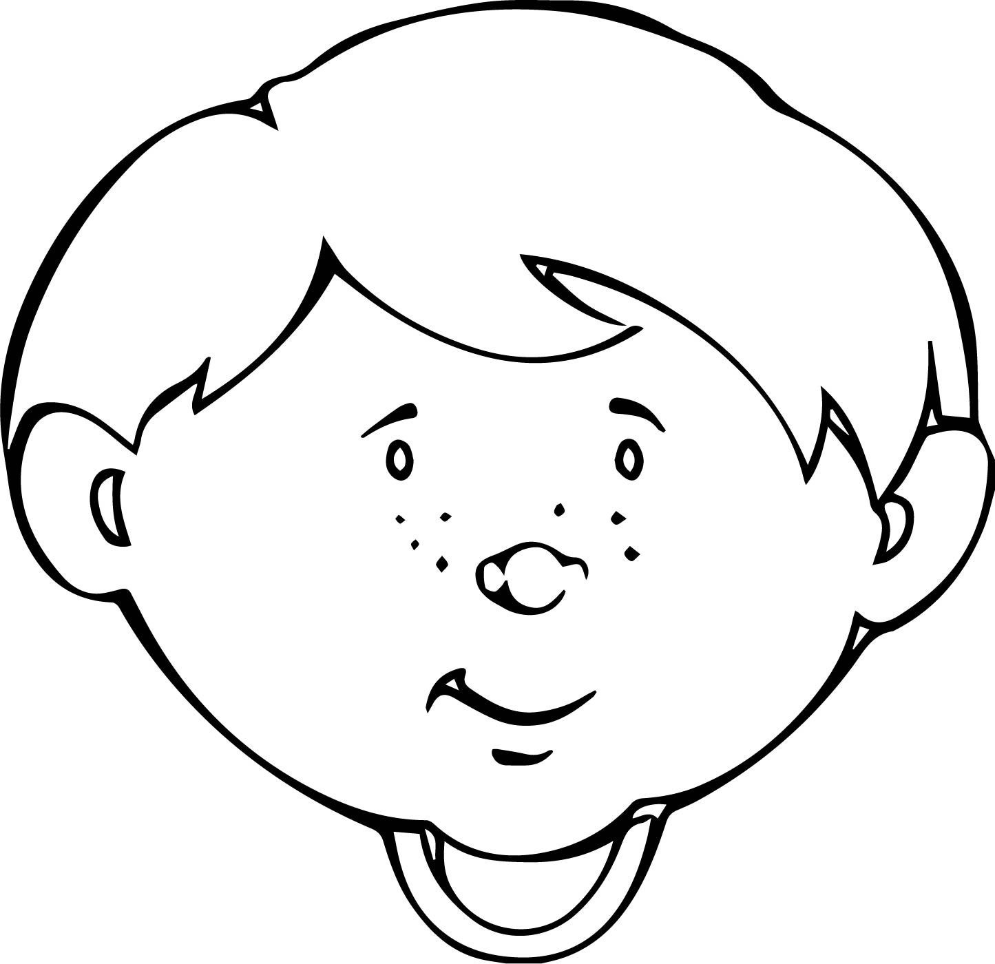 Nice Cute Child Face Coloring Page Coloring Pages Unique Coloring Pages Coloring Pages For Boys