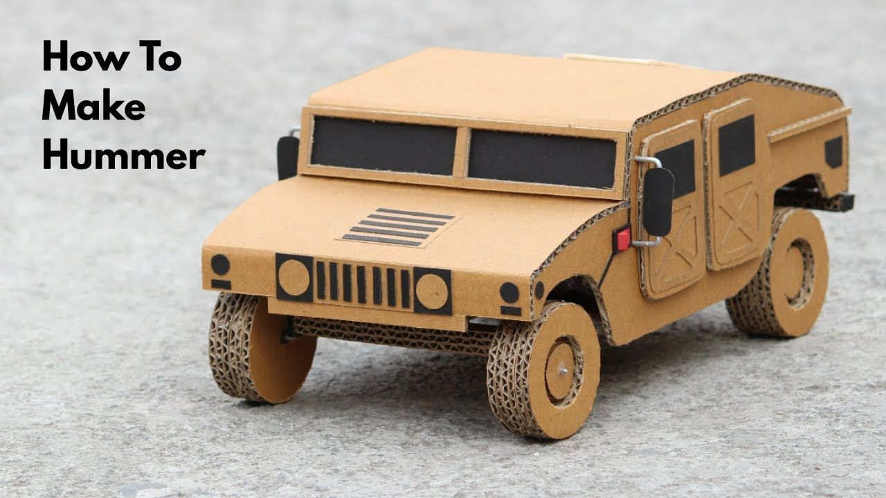 How To Make RC Hummer Car From Cardboard | PAPER TEMPLATES