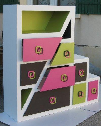 Meuble En Carton Pour Chambre De Fille Termine Meubles En Carton Marie Krtonne Art En Carton Meubles En Carton Meuble En Carton