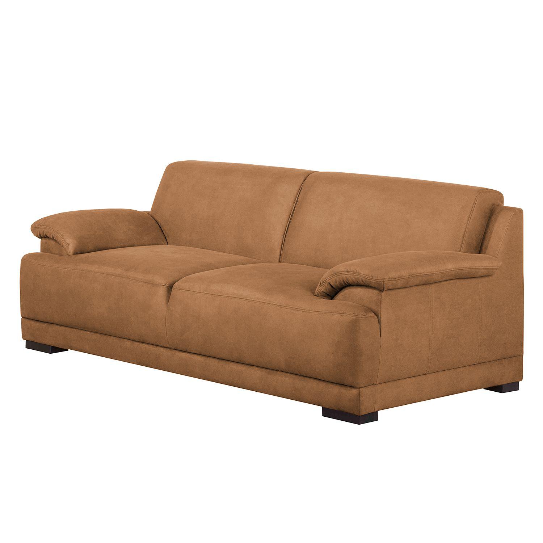 Sofa Robö (3-Sitzer) - Microfaser - Schaumstoff - Braun, Home ...