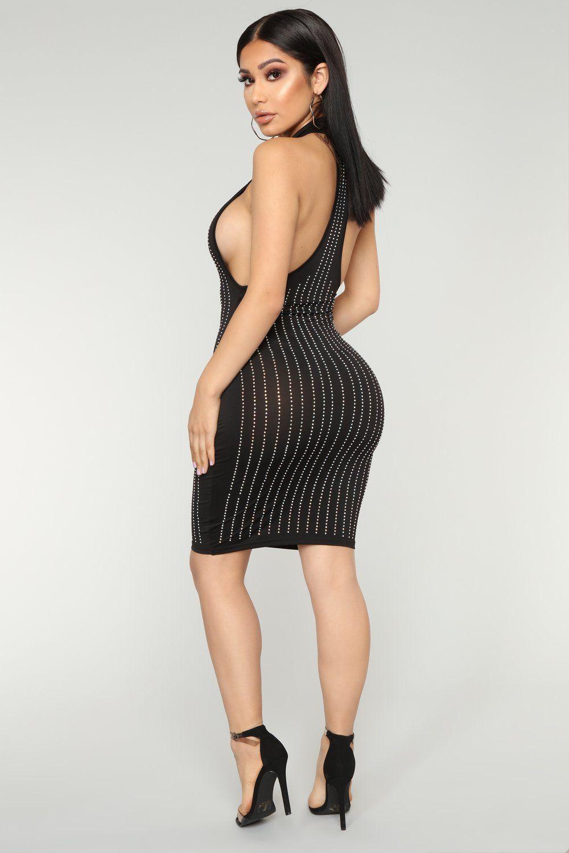 Party Favors Rhinestone Dress Black Rhinestone Dress Dresses Black Dress [ 1500 x 1000 Pixel ]