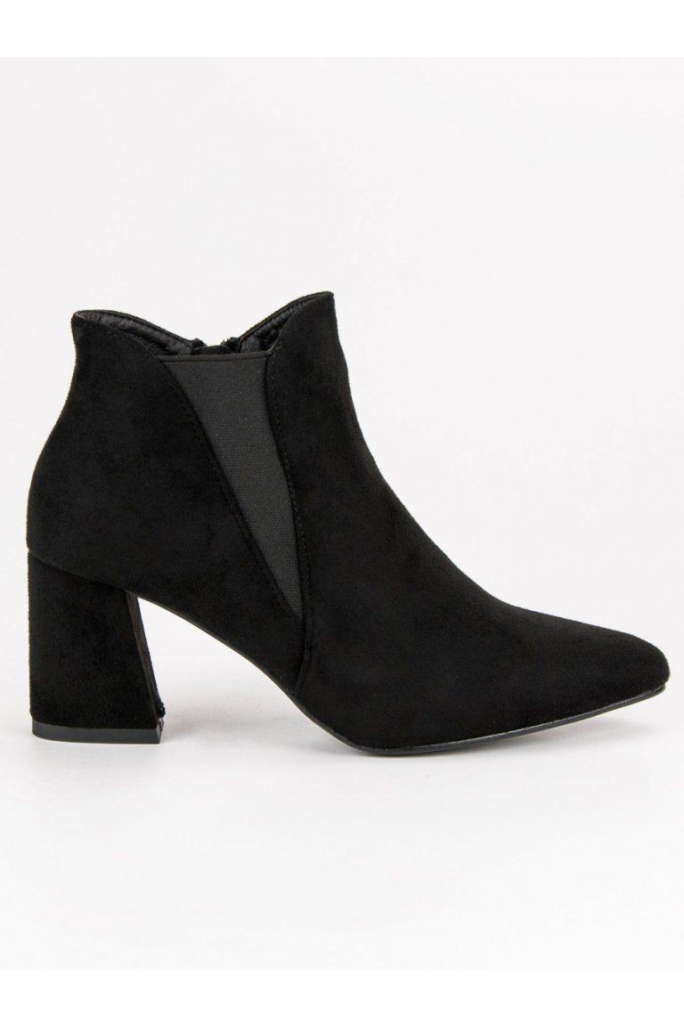 0e1bdc46dbf4 Čierne členkové topánky Belle Women