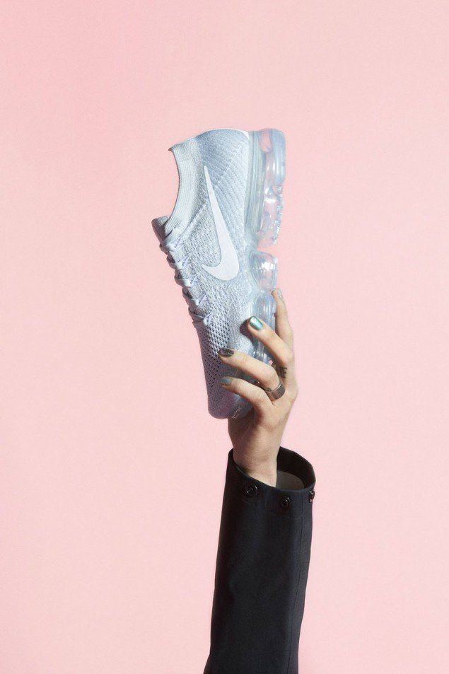 G-Dragon of Big Bang posing for Nike Vapormax