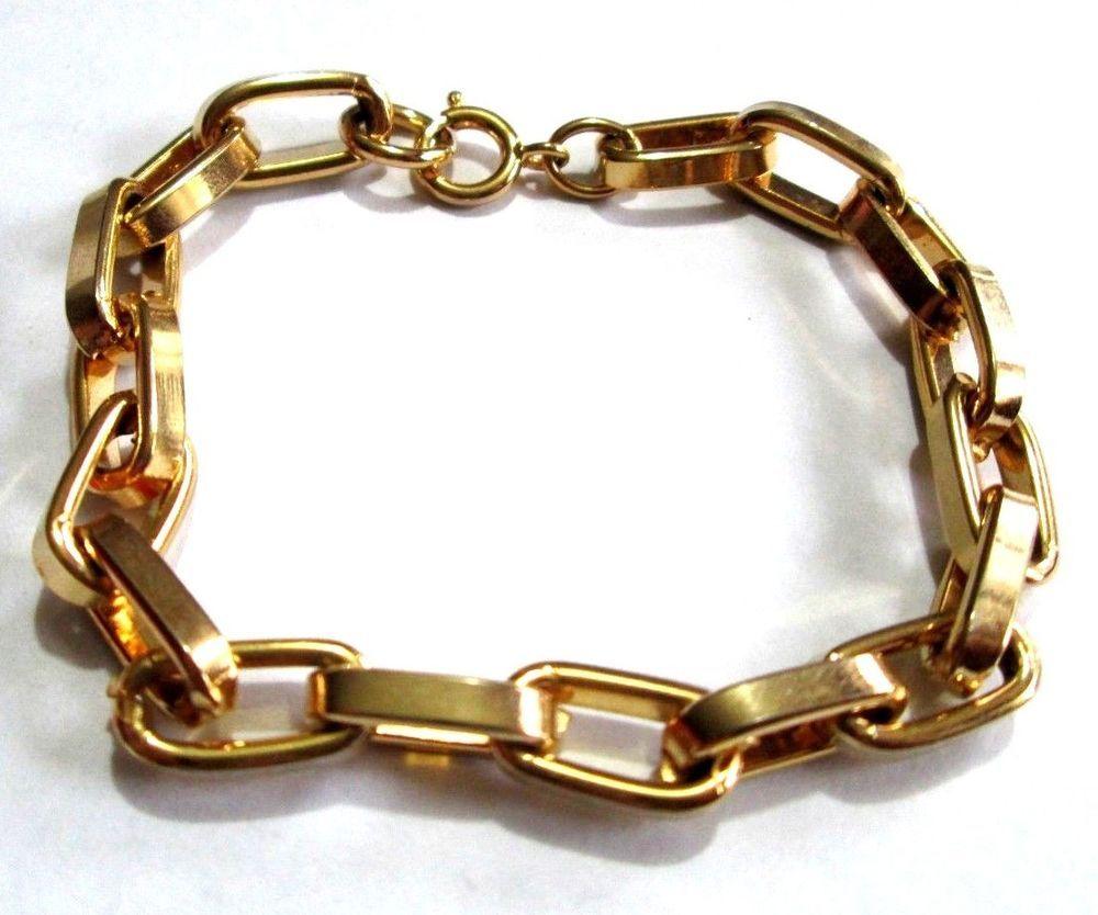 Bold link gold bracelet costume jewelry unisex t unbranded