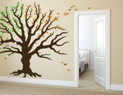 wandtattoo baum der jahreszeiten b ume ste wandtattoos pinterest. Black Bedroom Furniture Sets. Home Design Ideas