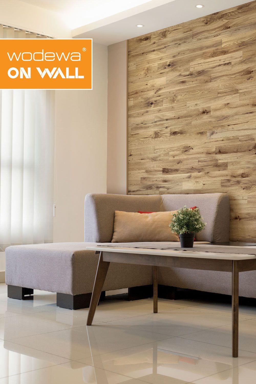 Wandgestaltung Mit Echtholz I Eiche I Holzwandverkleidung Wandverkleidung Moderne Einrichtung
