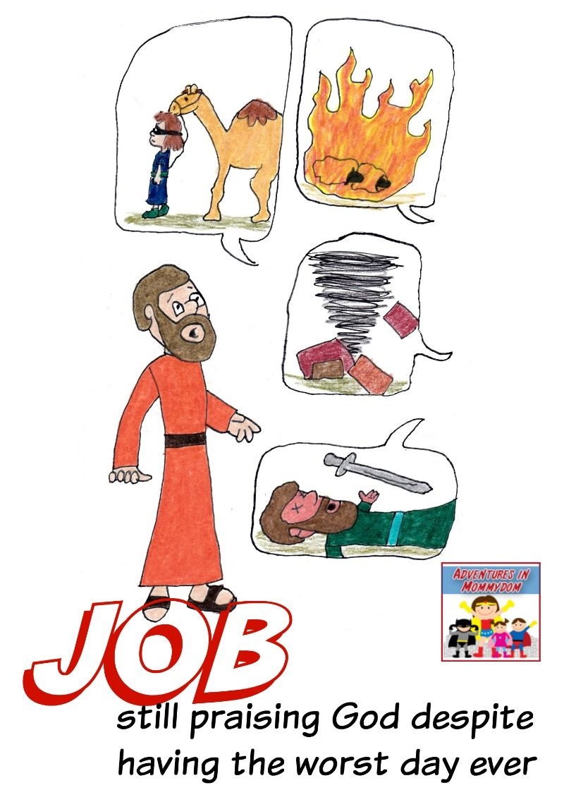 Job Lesson For Kids Bible Activities For Kids Preschool Bible Lessons Bible For Kids