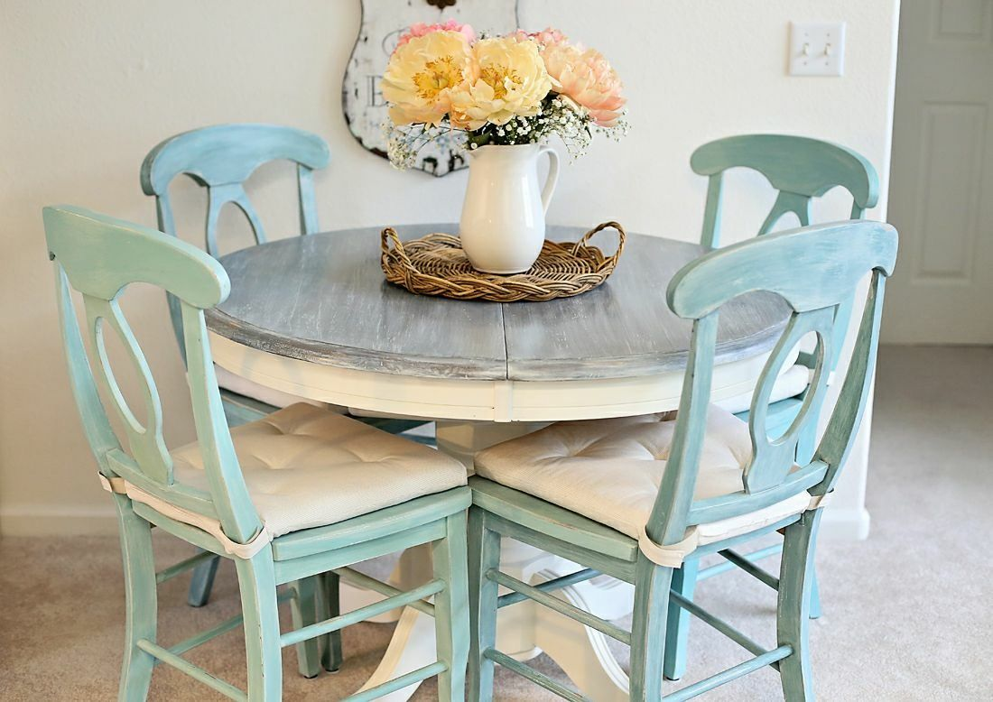 Teal Rustic Kitchen Table Rustic Kitchen Tables Painted Kitchen Tables Farmhouse Kitchen Tables