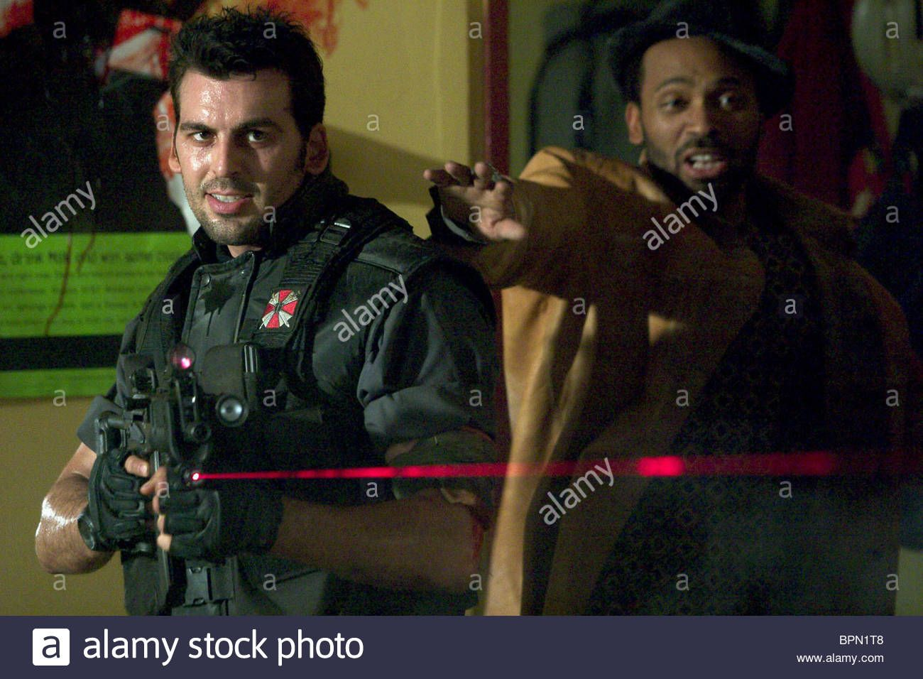 Stock Photo Oded Fehr Mike Epps Resident Evil Apocalypse