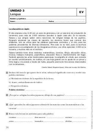 Lengua quinto de primaria anaya-evaluaciones | evaluaciones de 5 ...