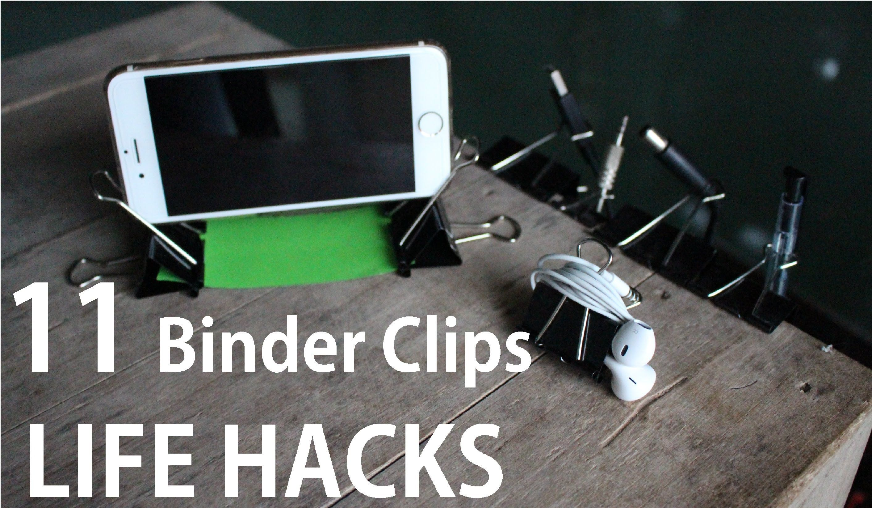 11 binder clips life hacks you can do it yourself diy cool ideas 11 binder clips life hacks you can do it yourself diy solutioingenieria Images