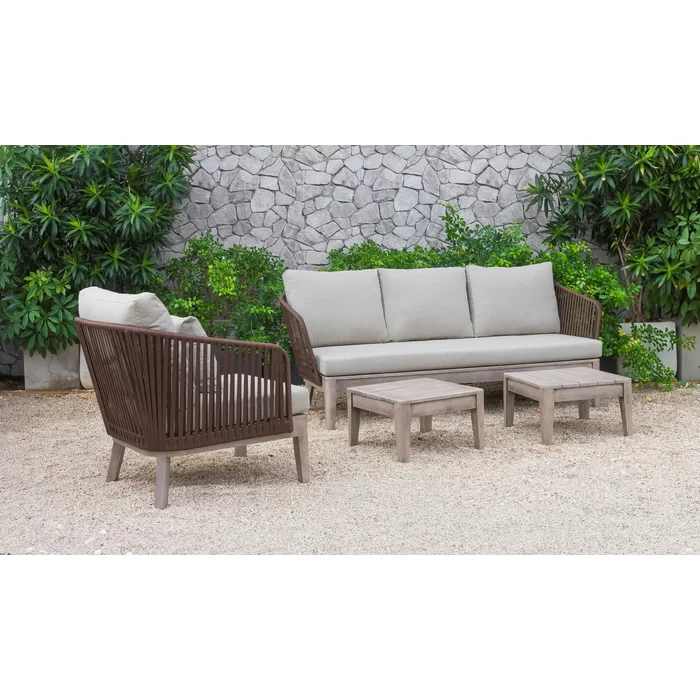 Admirable Darrie 4 Piece Sofa Set With Cushions Country House Alphanode Cool Chair Designs And Ideas Alphanodeonline
