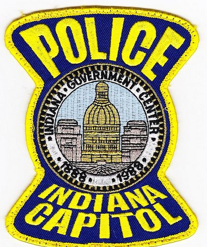 Indiana Capitol Pd Patch Police Patches Indiana Police Police Badge