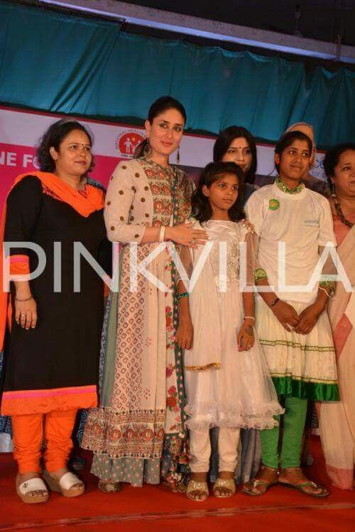 Gorgeous Kareena Kapoor Clicked in A Printed Anarkali Dress at the UNICEF Event!