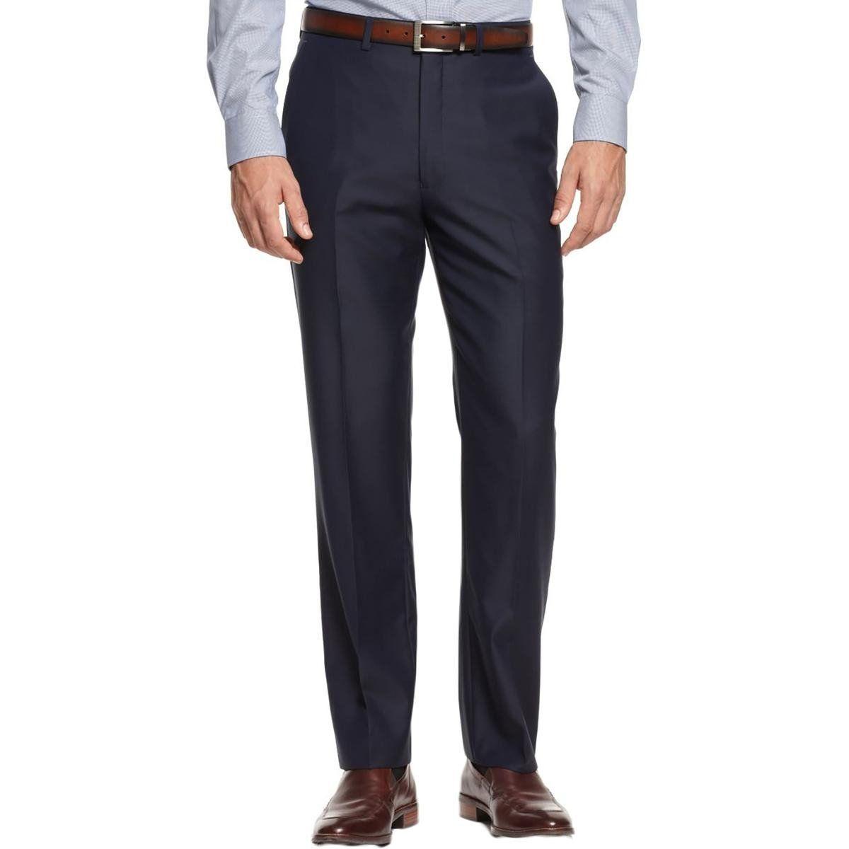 Ryan Seacrest Mens Wool Slim Fit Dress Pants