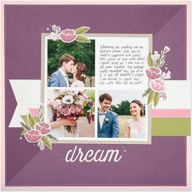 Dream Single Page Scrapbook Layout Featuring Close To My Heart My