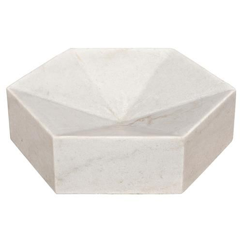 Sculptural White Coffee Table