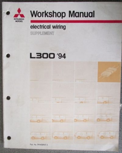 mitsubishi l300 electrical shop manual supplement phwe8907 3  l300 wiring diagram #15