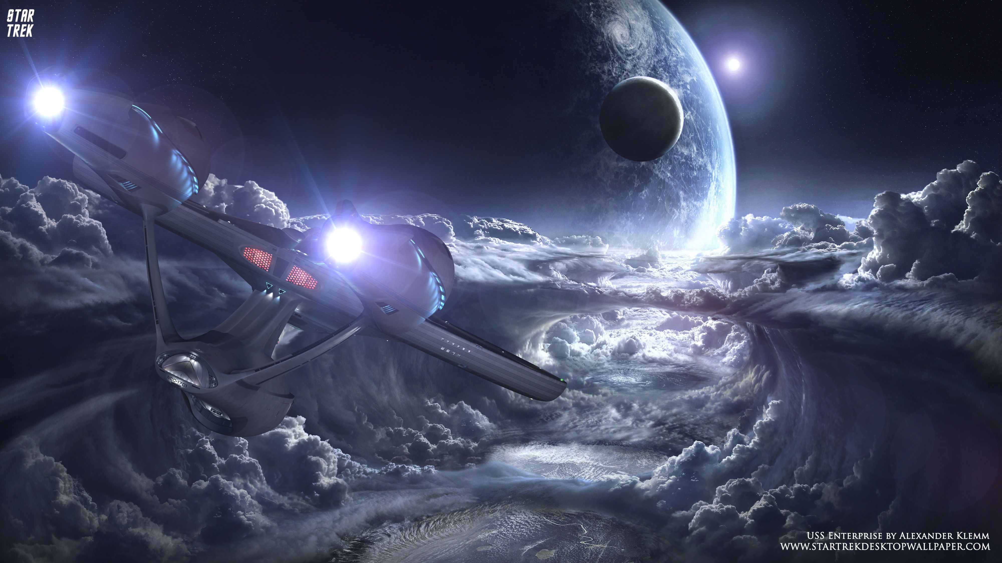 - Star Trek USS Enterprise NCC-1701 Over New Planet