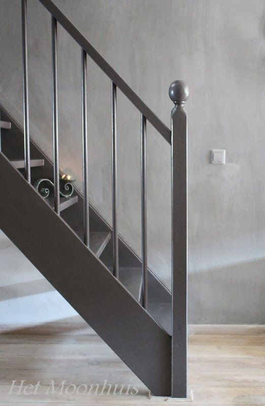 Trap grijs verven google zoeken droomhuis pinterest rustic modern living rooms and modern - Witte trap grijs ...