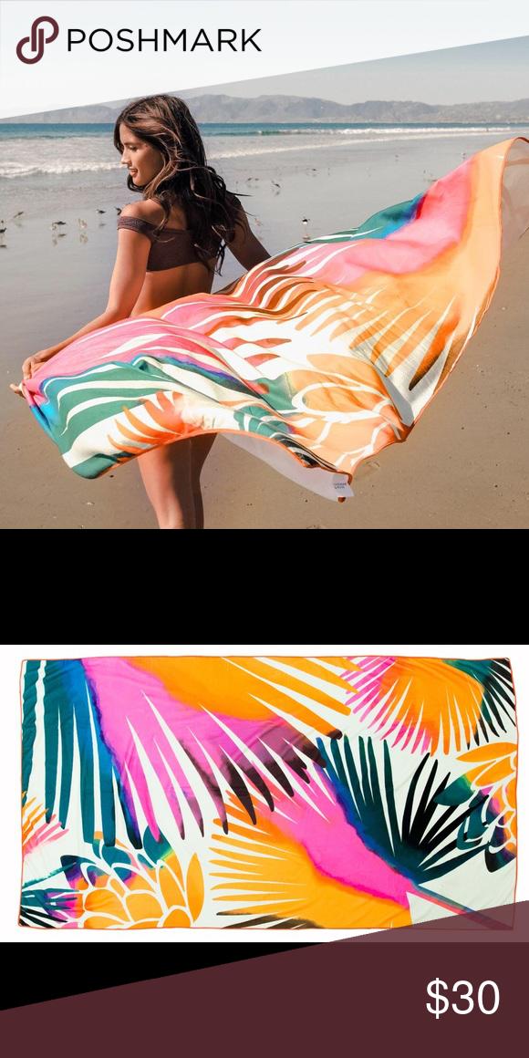 Summer Rose Rocky Palm Print Beach Towel My Posh Closet