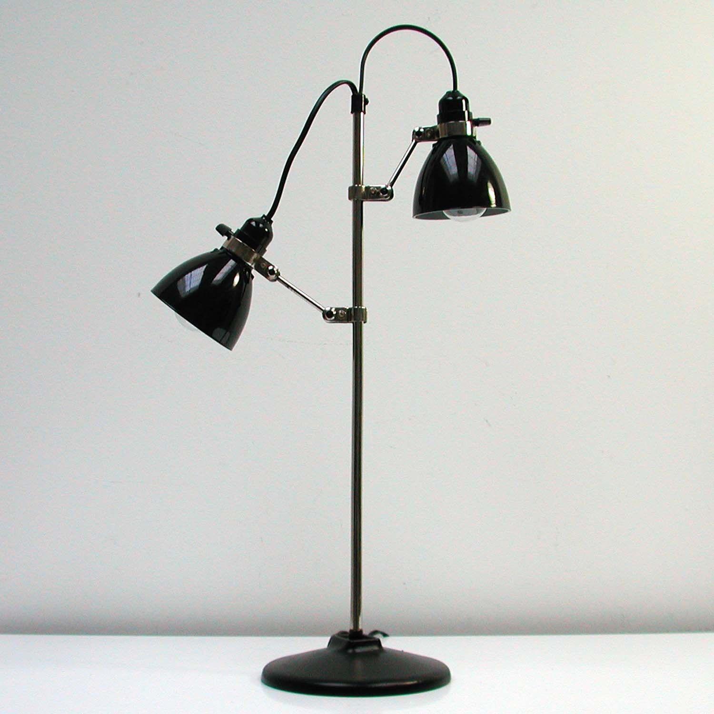 Vintage 40s cast iron metal deco industrial gooseneck desk lamp light - Vintage Art Deco German Industrial Bakelite Table Lamp Desk Lamp 1930s 1940s