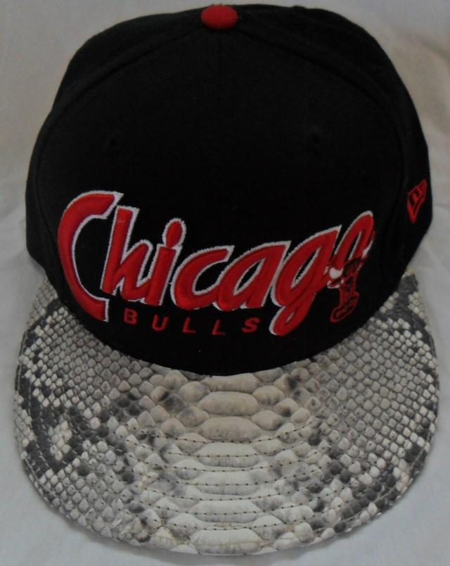 Chicago Bulls Script Snakeskin Strapback Hat  4768d84b48f