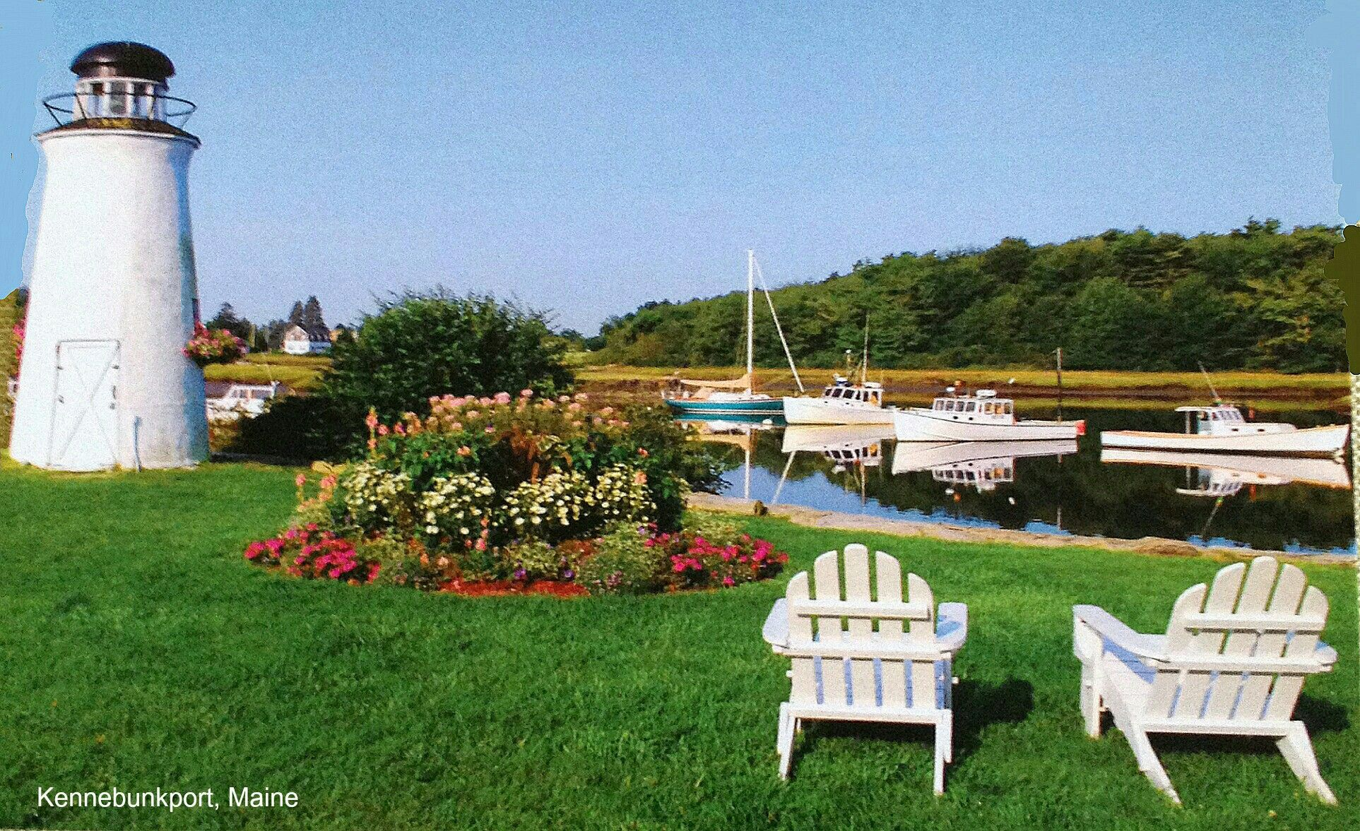 Kennebunkport, Maine. We stayed here in October.  I took this picture of a postcard we bought.