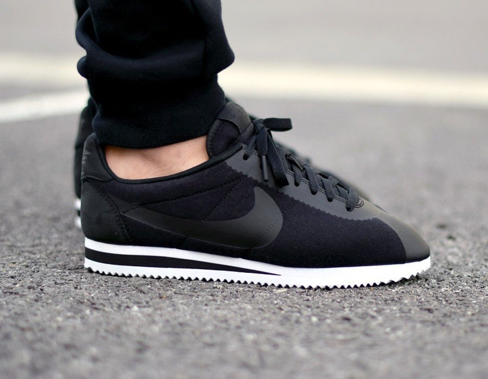 check out 30a07 ea5c0 Nike Classic Cortez TP Black-Black - 749654-001 | Shoes in ...