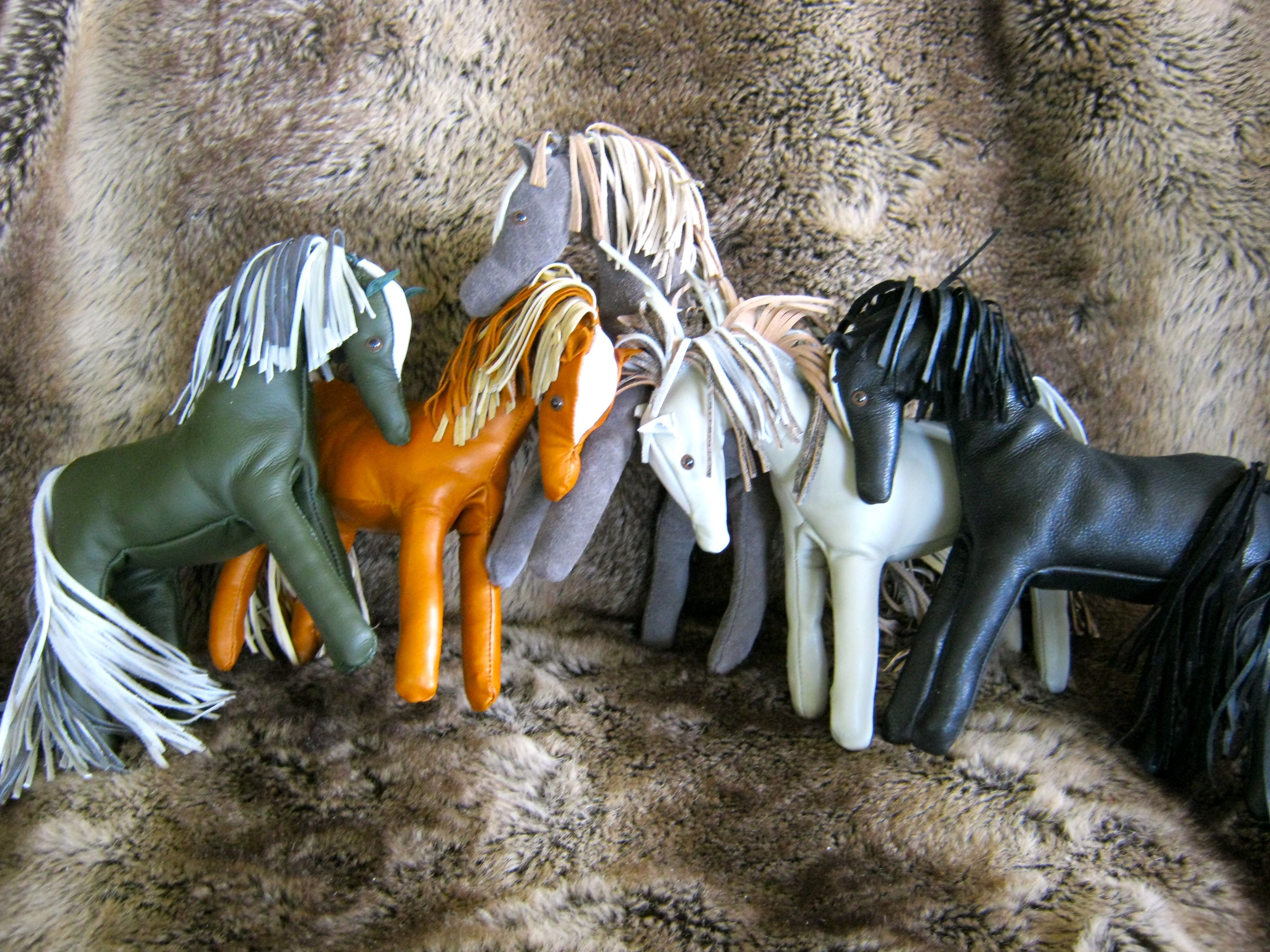Leather ponies, by Sara MacIntyre, 2010