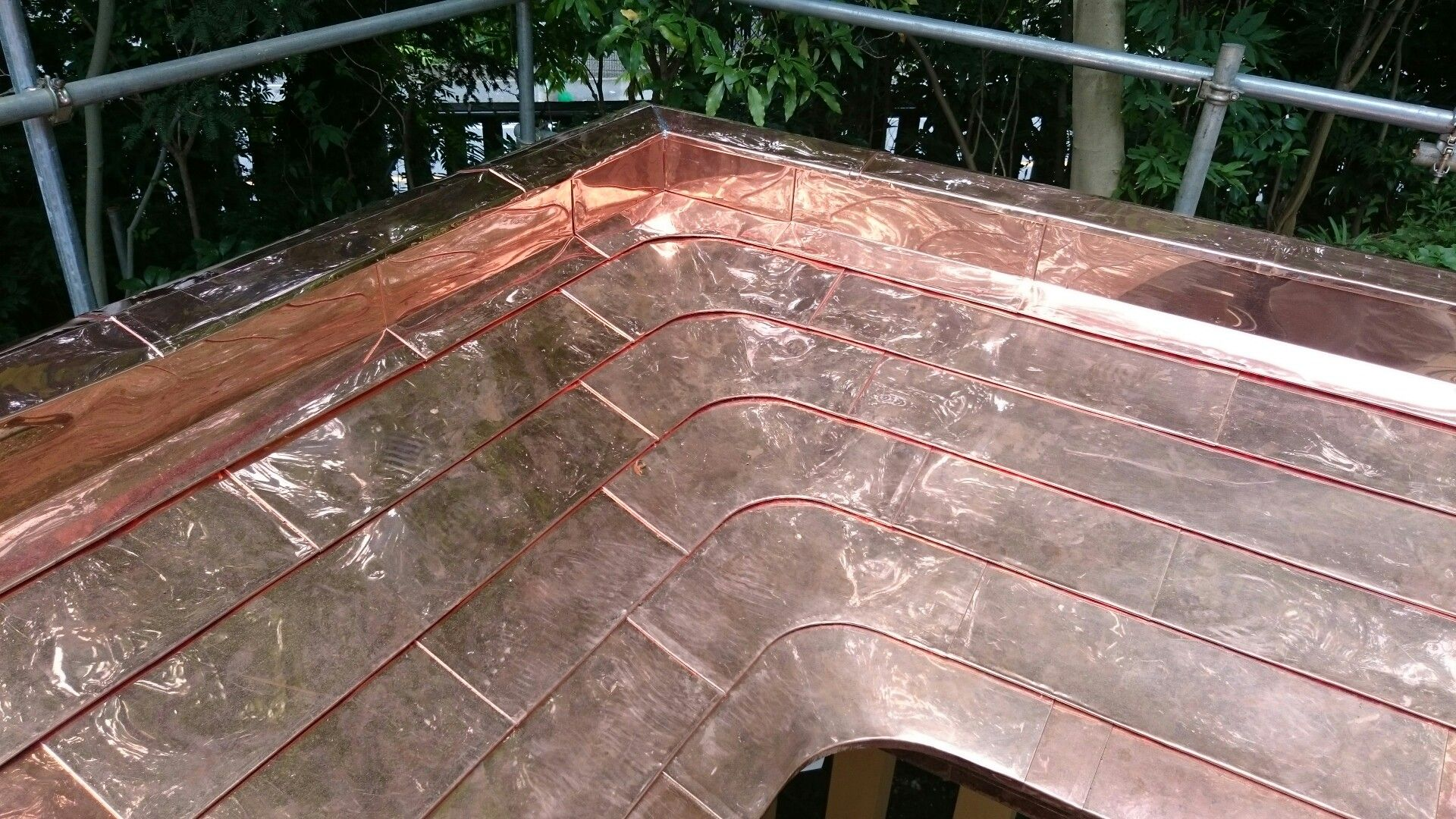 Copper Roof Metal Roof Construction Roof Cladding Copper Roof