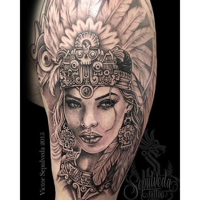 Sepulveda Tattoo Studios 323 229 6825 For Appointments Or Email Aztec Tattoo Aztec Tattoos Sleeve Aztec Warrior Tattoo