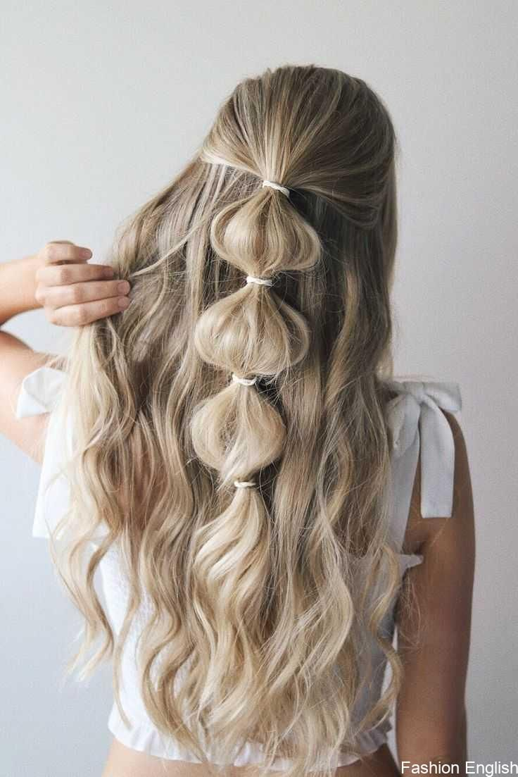 festival hairstyles you have to try | bubble pony | half up hair