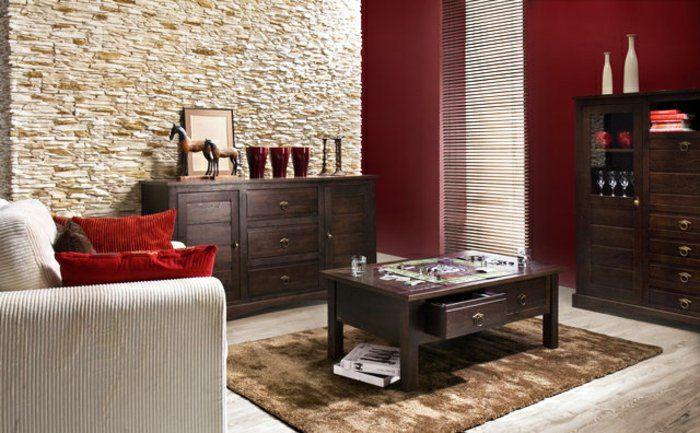 stone look wall stone wall indoor living room furnishing ideas 6, Hause deko