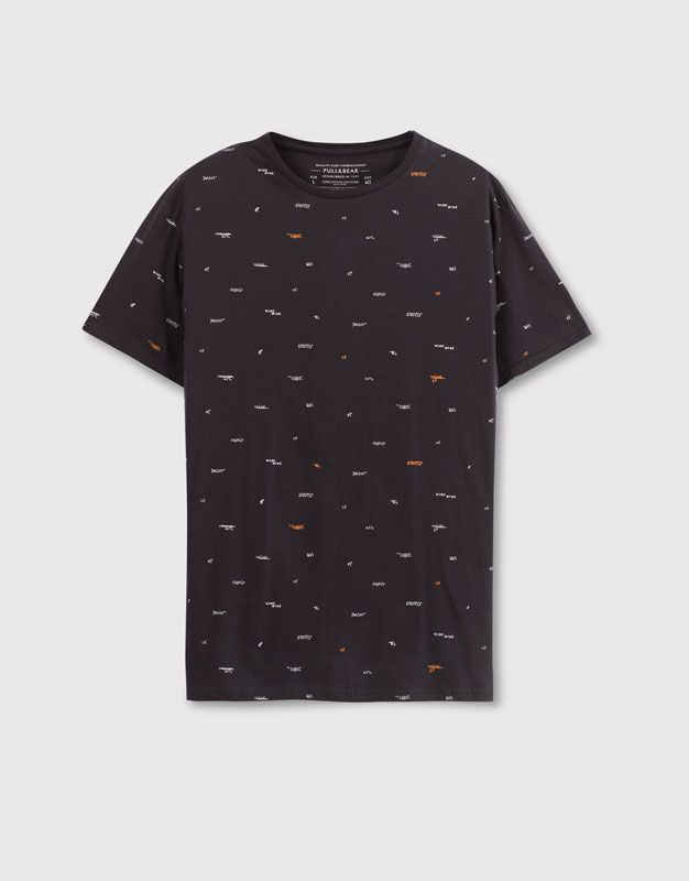 5edfd93c0 ALL OVER PRINTED TEE - T-SHIRTS AND POLO SHIRTS - MAN - PULL&BEAR United  Kingdom